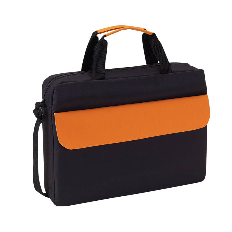 Document bag 'Bristol' - Black / Orange ins-0814567