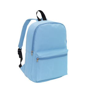 Backpack 'Chap' with front zip pocket - Light Blue ins-0819562