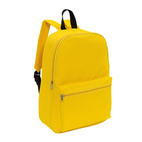 "Backpack ""Chap"" with front zip pocket, zippered main compartment, adjustable and padded shoulder straps, and one carrying handle. - Yellow ins-0819565"