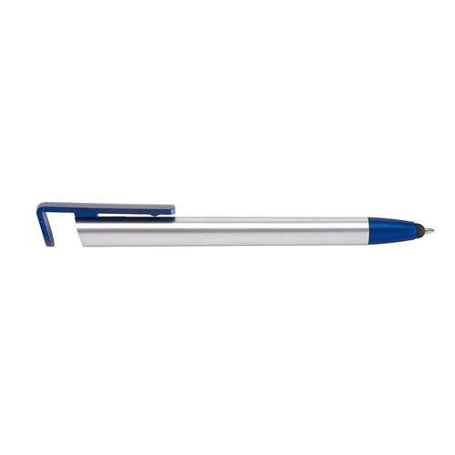 "Ballpoint pen ""Nevada"": with press mechanism and touch screen tip to navigat smartphones, wide clip serves as telephone holder. - Blue ins-1102085"