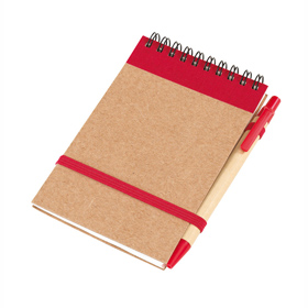 'RECYCLE' NOTE BOOK W/PEN RED  ins-1103157