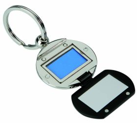Photo frame metal keychain kr-130