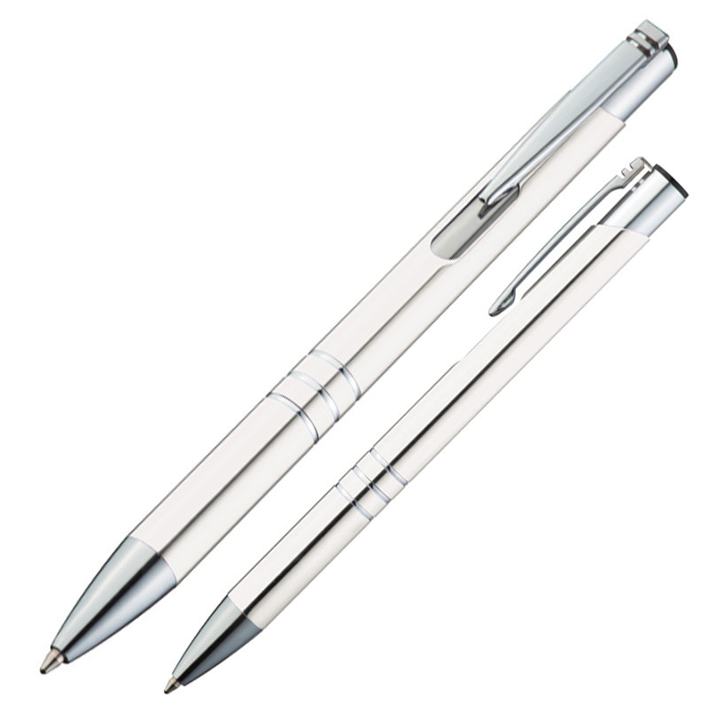 Elegant metal ballpen - White mac-1333906