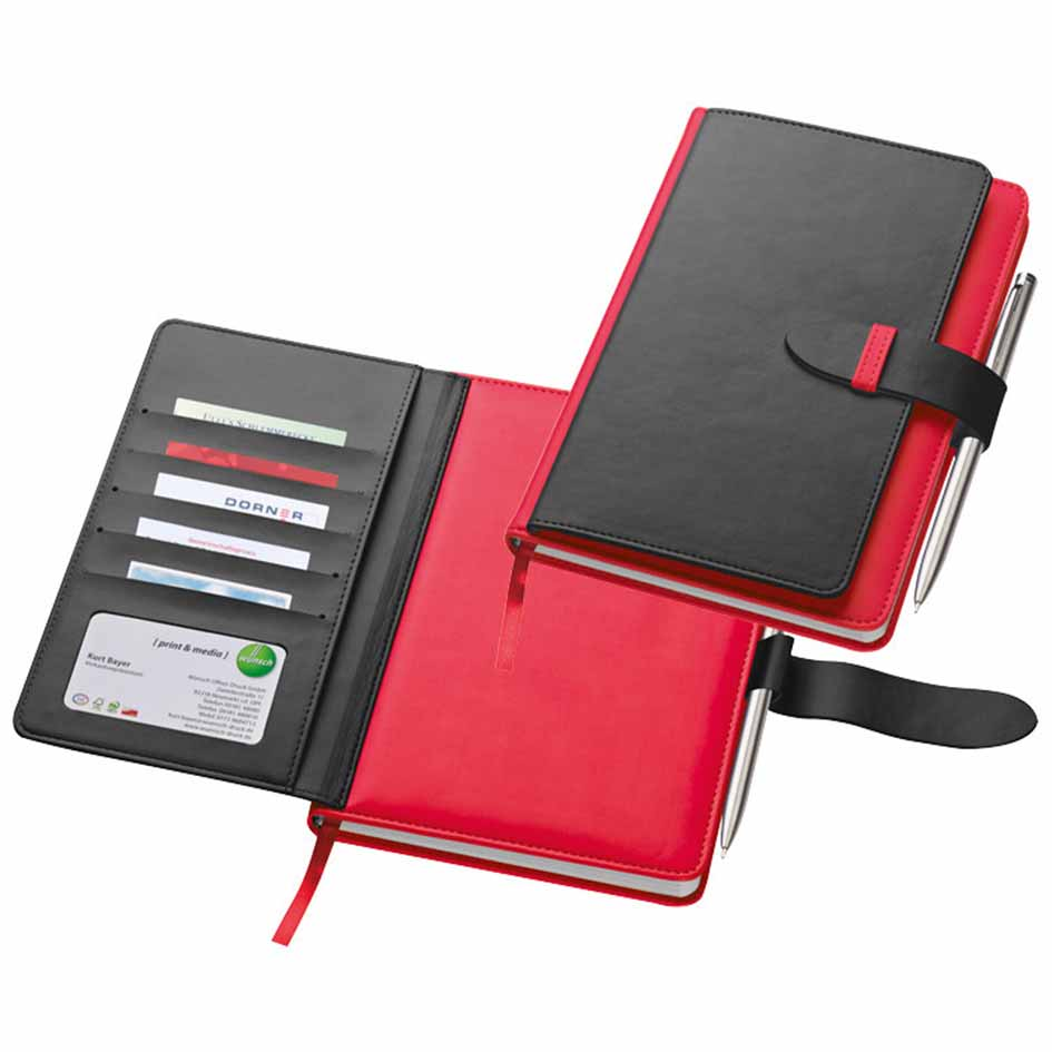 A5 PU note book - Red mac-2008805
