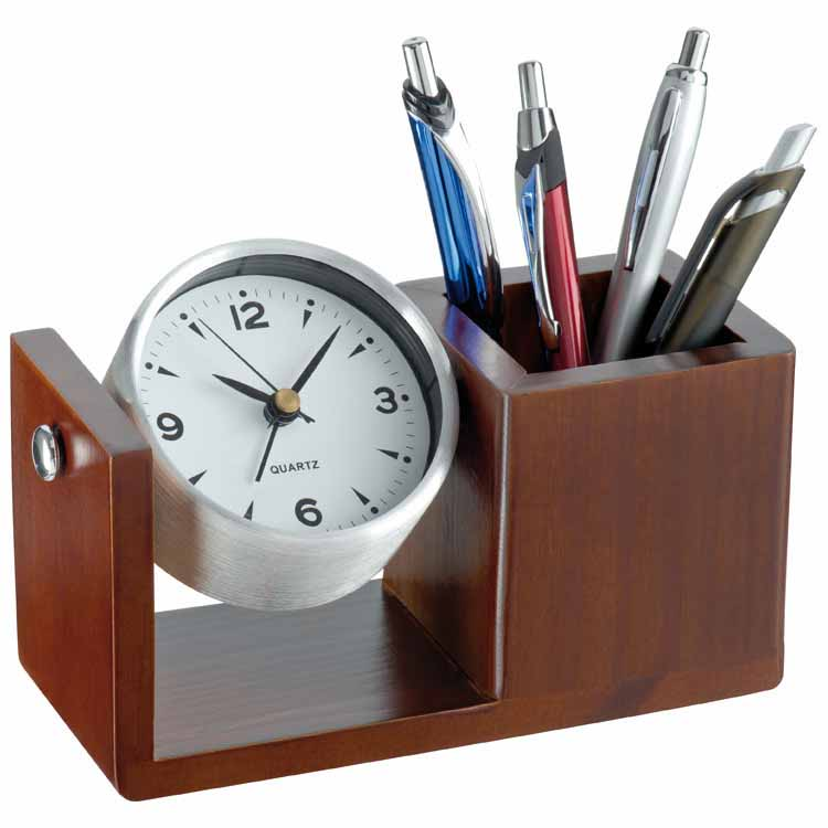 Elegant rotating aluminium desk clock mac-22918