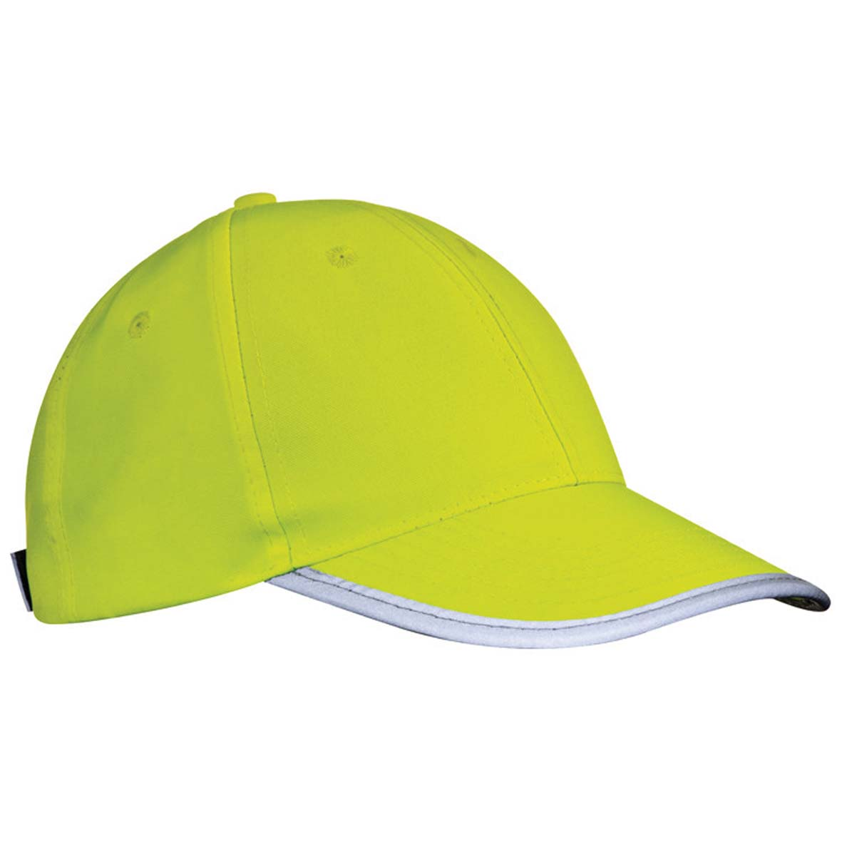 6-panel baseball cap made of polyester with reflecting edge mac-53397