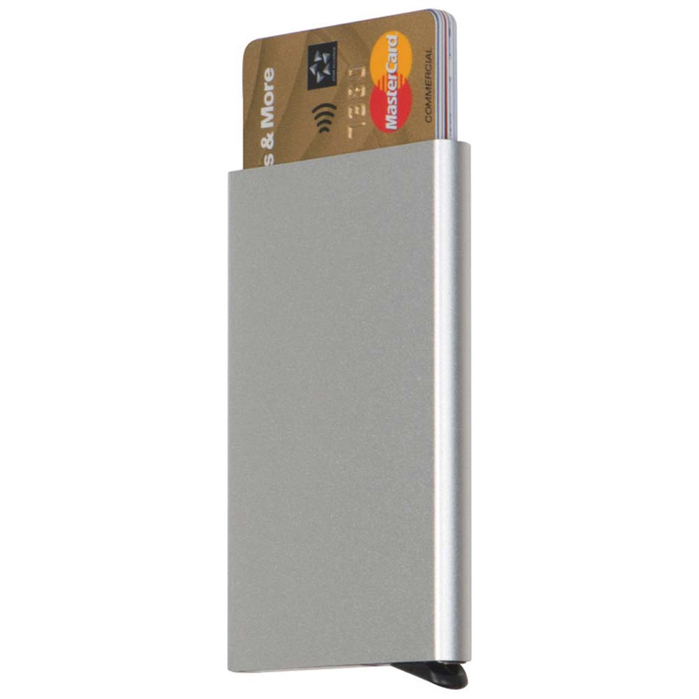 Aluminium credit card dispenser with RFID protection - Silver mac-90725