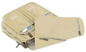 Document bag / laptop case - beige mb-08 be