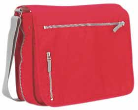 Document bag / laptop case - red mb-08 r
