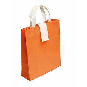Foldable shopping bag in non-woven material - Orange mb-12 or