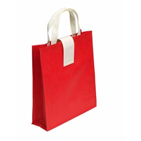 Foldable shopping bag in non-woven material - Red mb-12 r