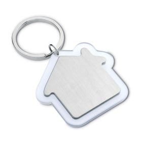 House shaped keyring - clear mb-80cl