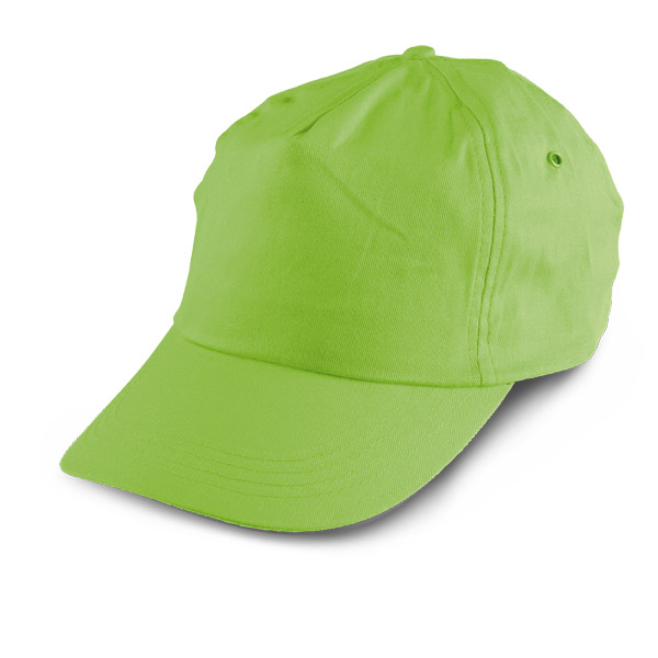 5 panel polyester cap - Light Green mk-122 lgr