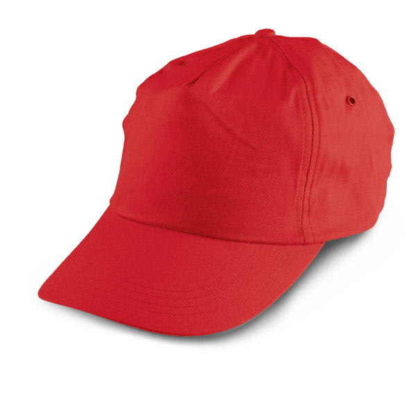 5 panel polyester cap - Red mk-122 r
