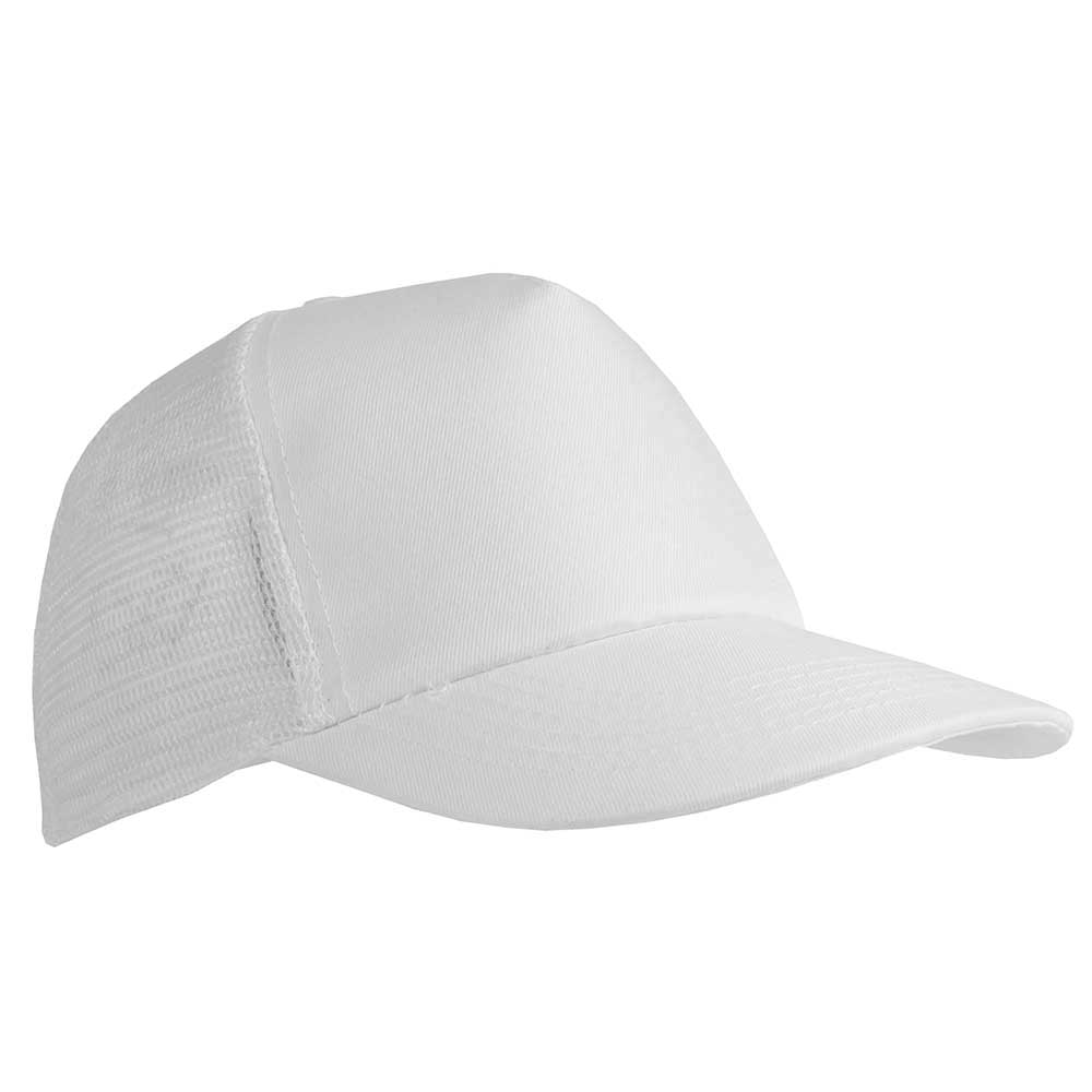 5 panel polyester cap - White mk-122 w