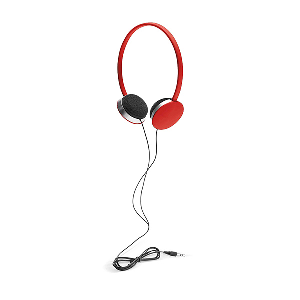 Headphones with 3,5 mm jack plug and cable 1,20m in length. - Red mk-135 r
