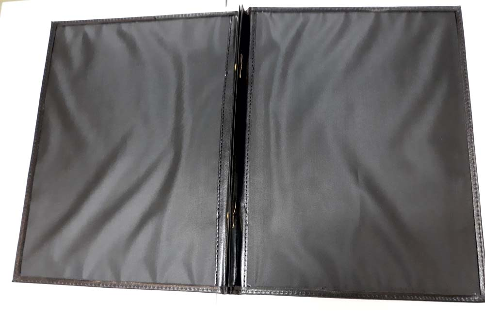 Imitation leather menu cover - Black mk-149 bk