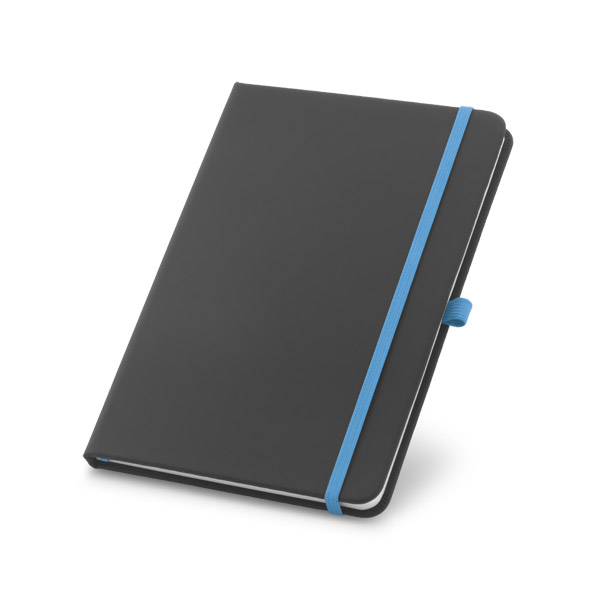 A5 hard cover note pad - Light Blue mk-158 lbl