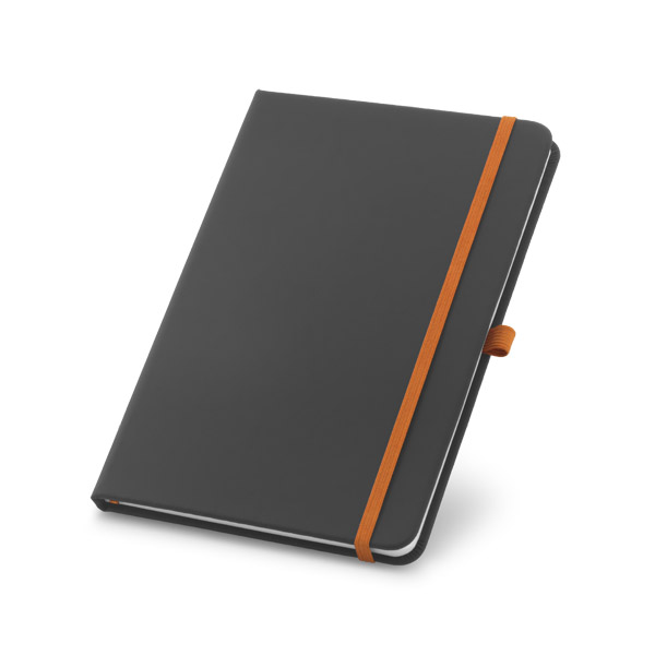 A5 hard cover note pad - ORANGE mk-158 or