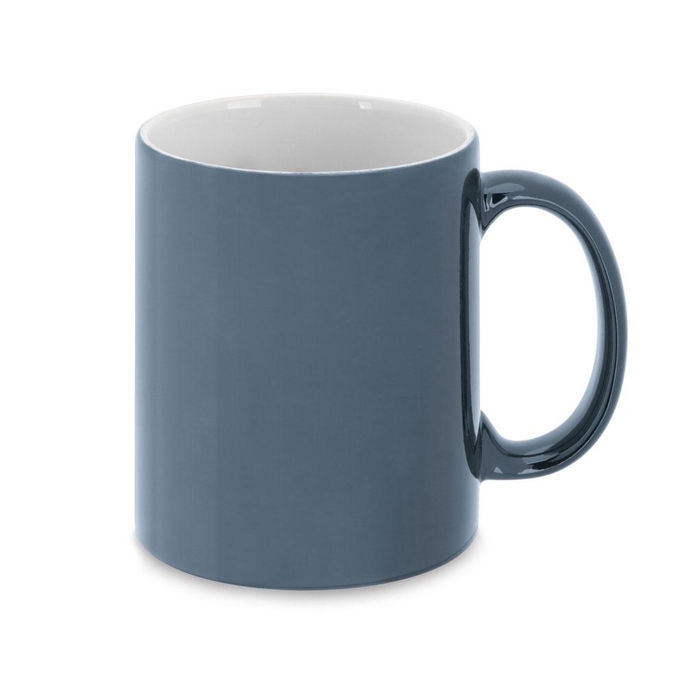 Ceramic mug with metallic finish mk-164 mbl