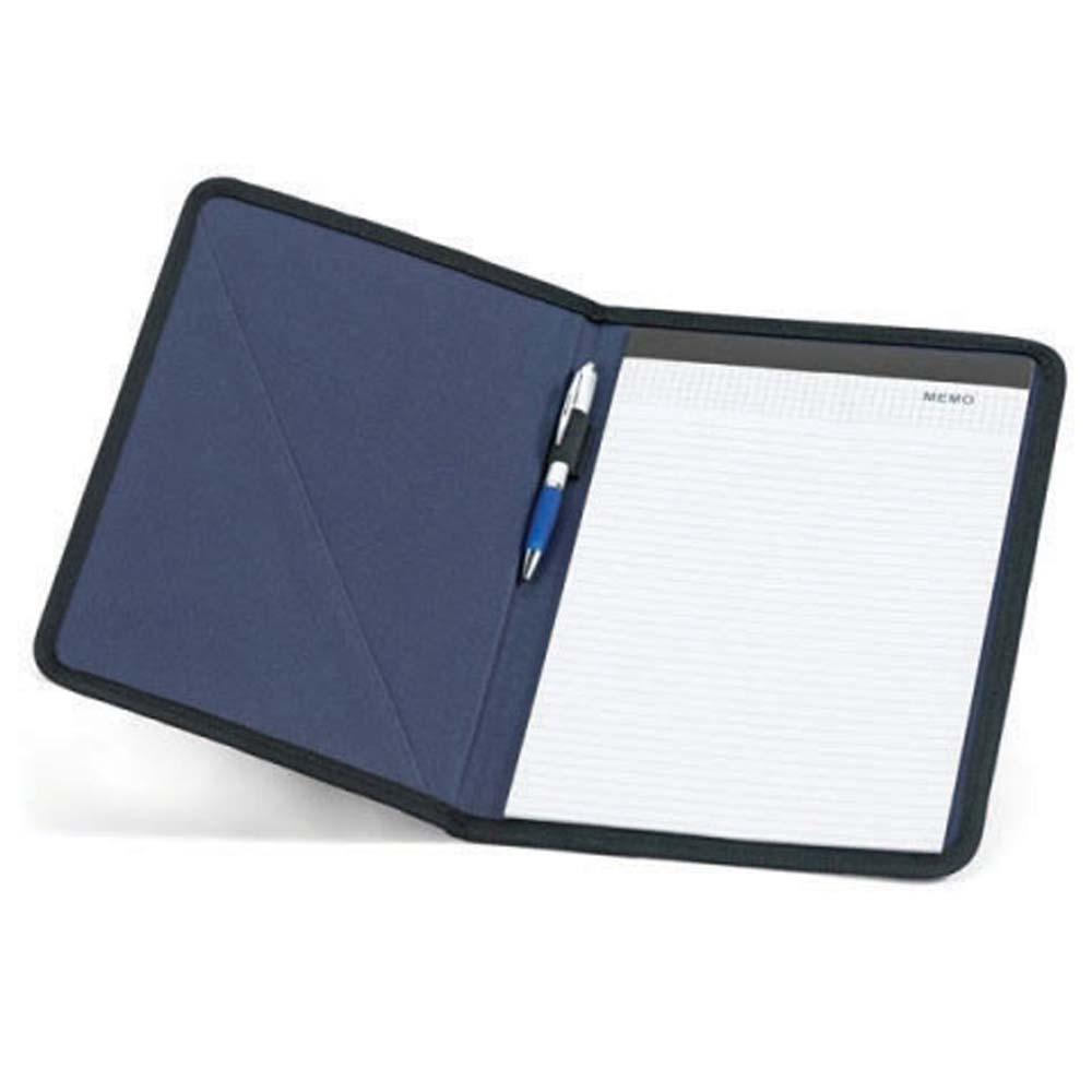 600D polyester A4 folder with lined note pad - Blue mk-1804 bl