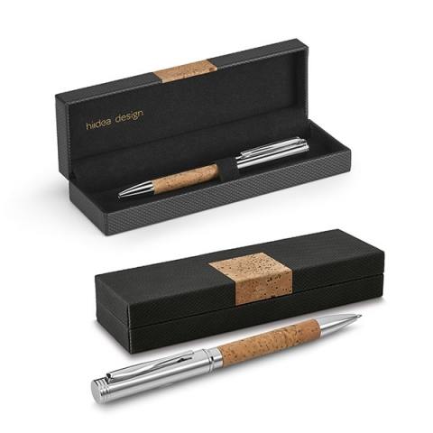Cork/metal ballpen in a gift case mk-1806 na