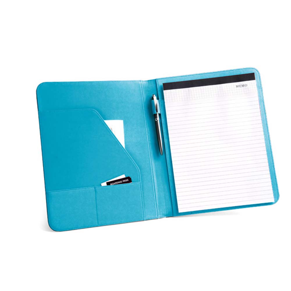 A4 folder made of imitation leather and 800D polyester - Light blue mk-1808 lbl