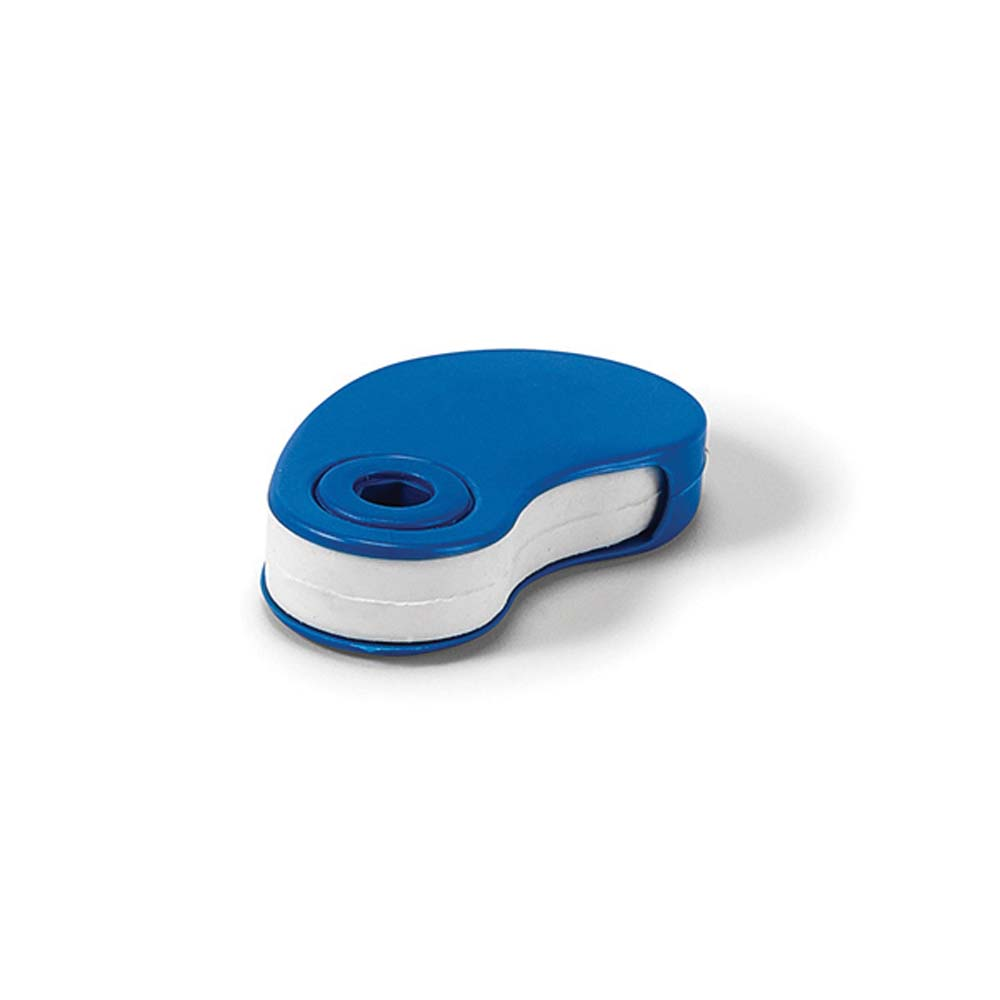 Eraser with plastic protective cover - Blue mk-1856 bl