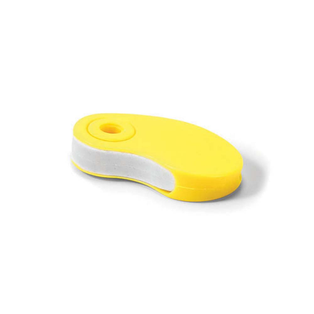 Eraser with plastic protective cover - Yellow mk-1856 y
