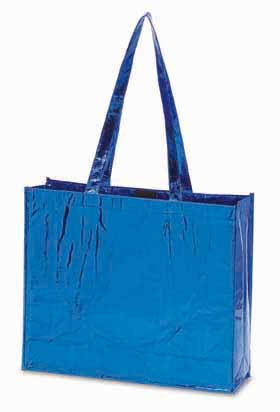 'GLAMOUR' non-woven laminated shopping bag - Blue ns-012 bl
