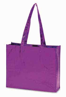 'GLAMOUR' non-woven laminated shopping bag - Purple ns-012 pu