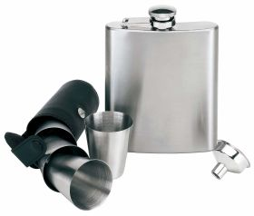 7pcs stainless steel hip flask set ns-734