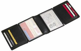'Wall Street' real leather credit card wallet in gift box ns-815
