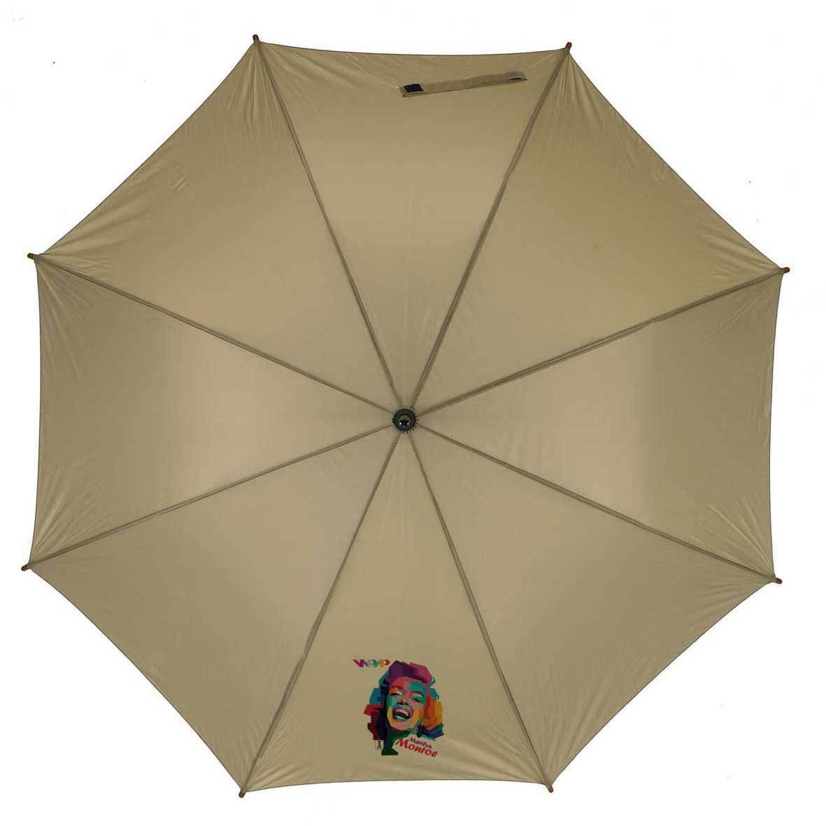 Automatic wooden stick umbrella - Beige ns-927 be subl