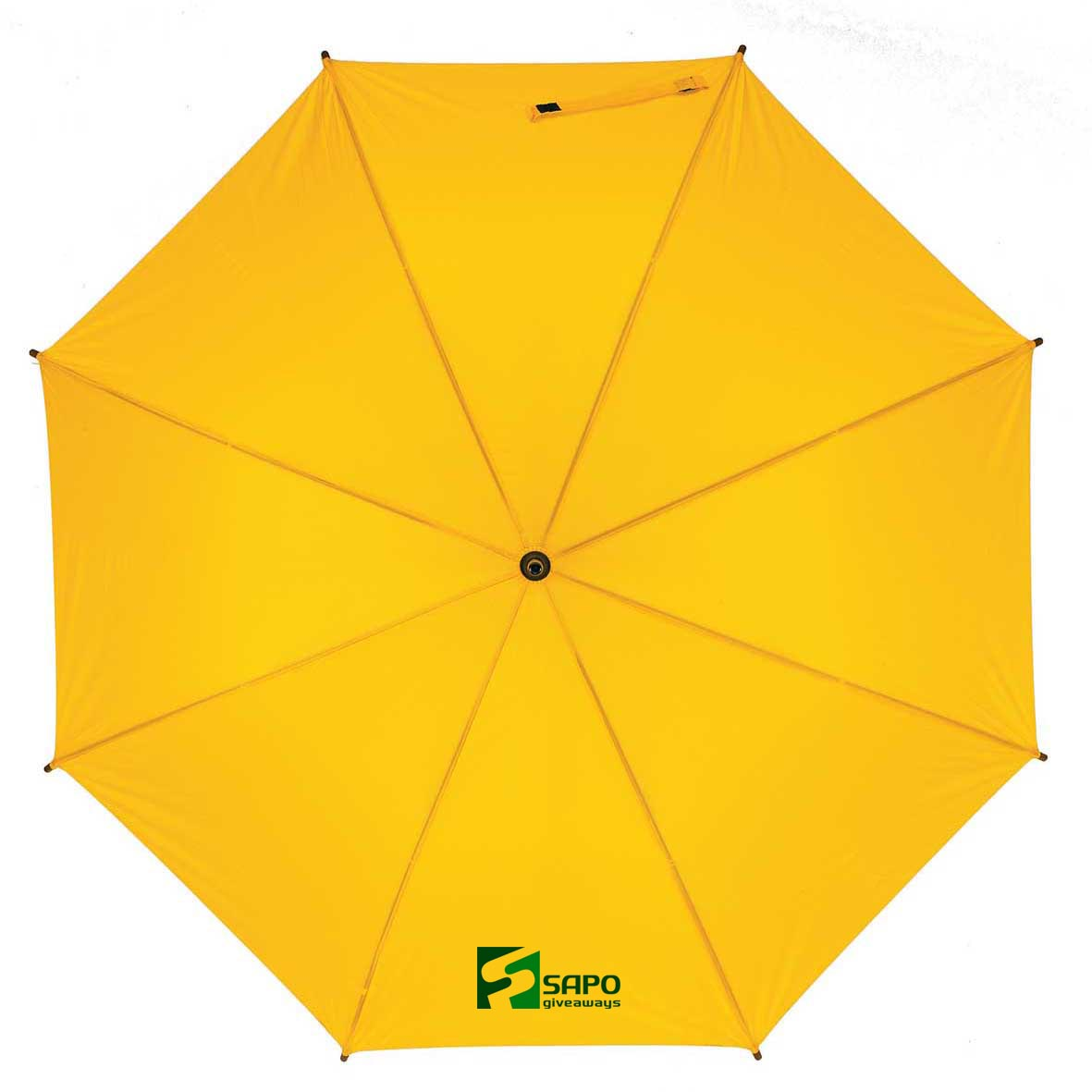 Automatic wooden stick umbrella - Yellow ns-927 y subl
