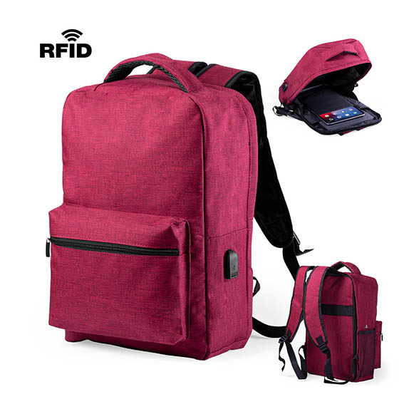 Anti theft backpack in resistant polyester 300D material pf-2055403