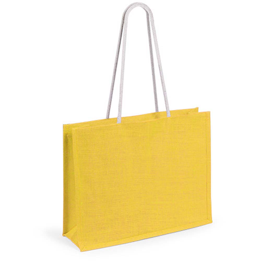 Jute bag in various vivid colors. - Yellow pf-488305