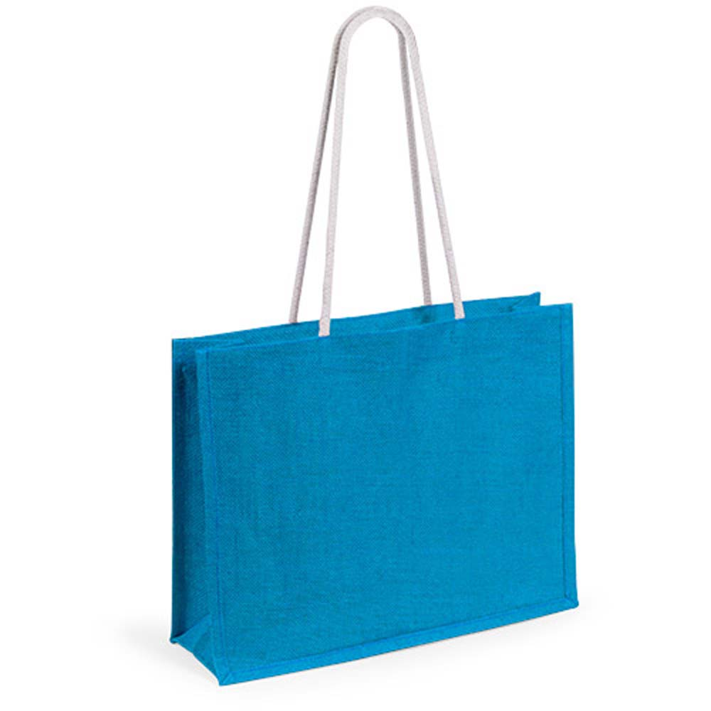 Jute bag in various vivid colors - Royal Blue pf-488319