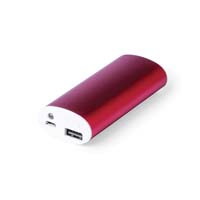 4,000 mAh, high charging capacity external auxiliary battery. In aluminum, with button and with charging indicators. Including micro USB cable and presented in an attractive design box. - Red pf-495903