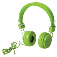 Casual adjustable headphones with comfortable PU ear pads.With 3.5 mm jack connection and presented in an attractive design box. - Light Green pf-514616