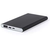4000 mAh, high charging capacity external auxiliary battery - Black pf-577702