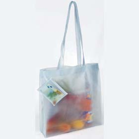 BEACH / SHOPPING BAG WITH PURSE - white pt-355w