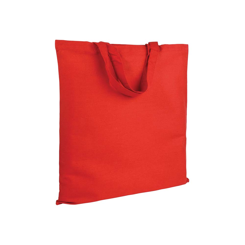 Cotton shopping bag (135 g/m²) with short handles -Red sip-0051203
