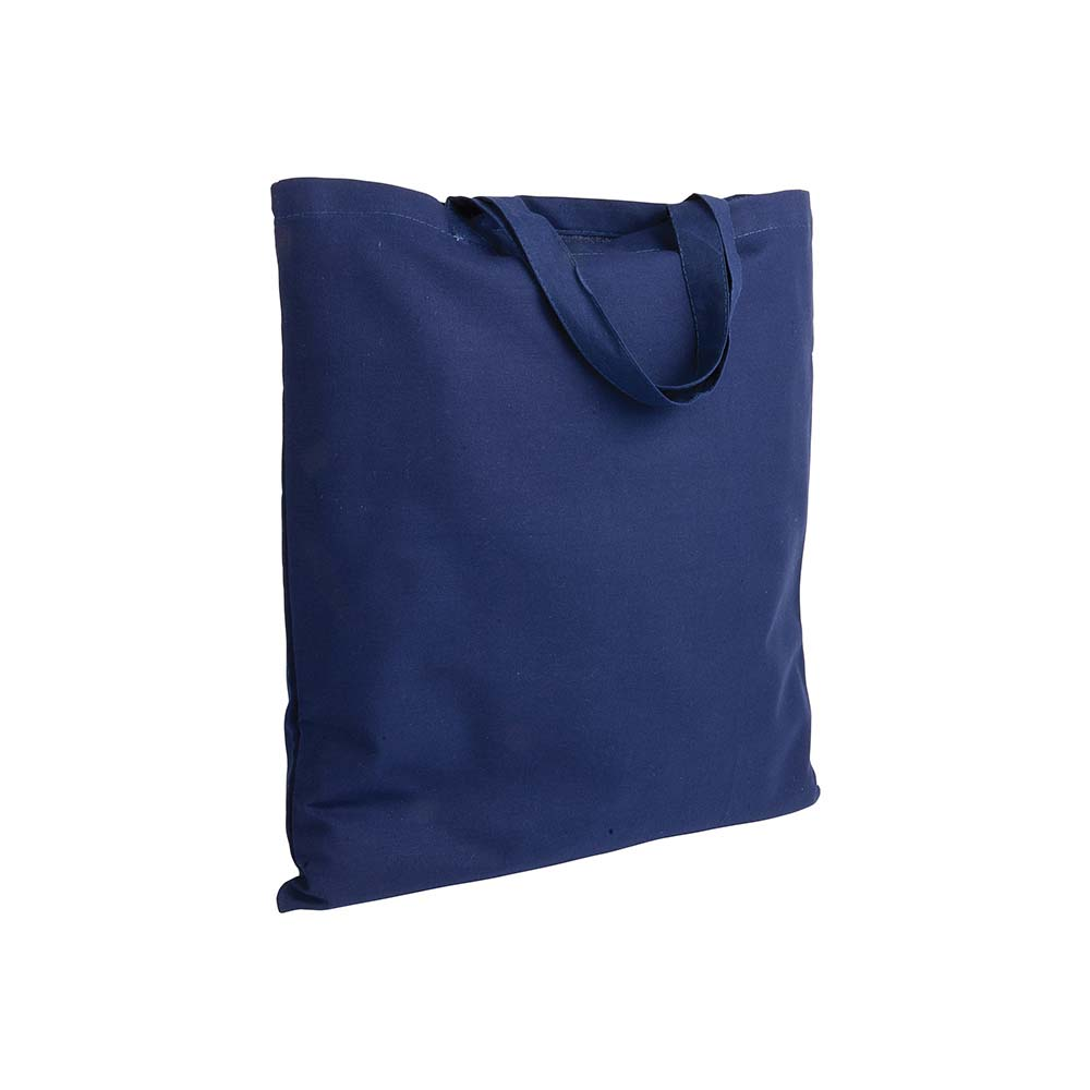 Cotton shopping bag (135 g/m²) with short handles -Blue sip-0051205