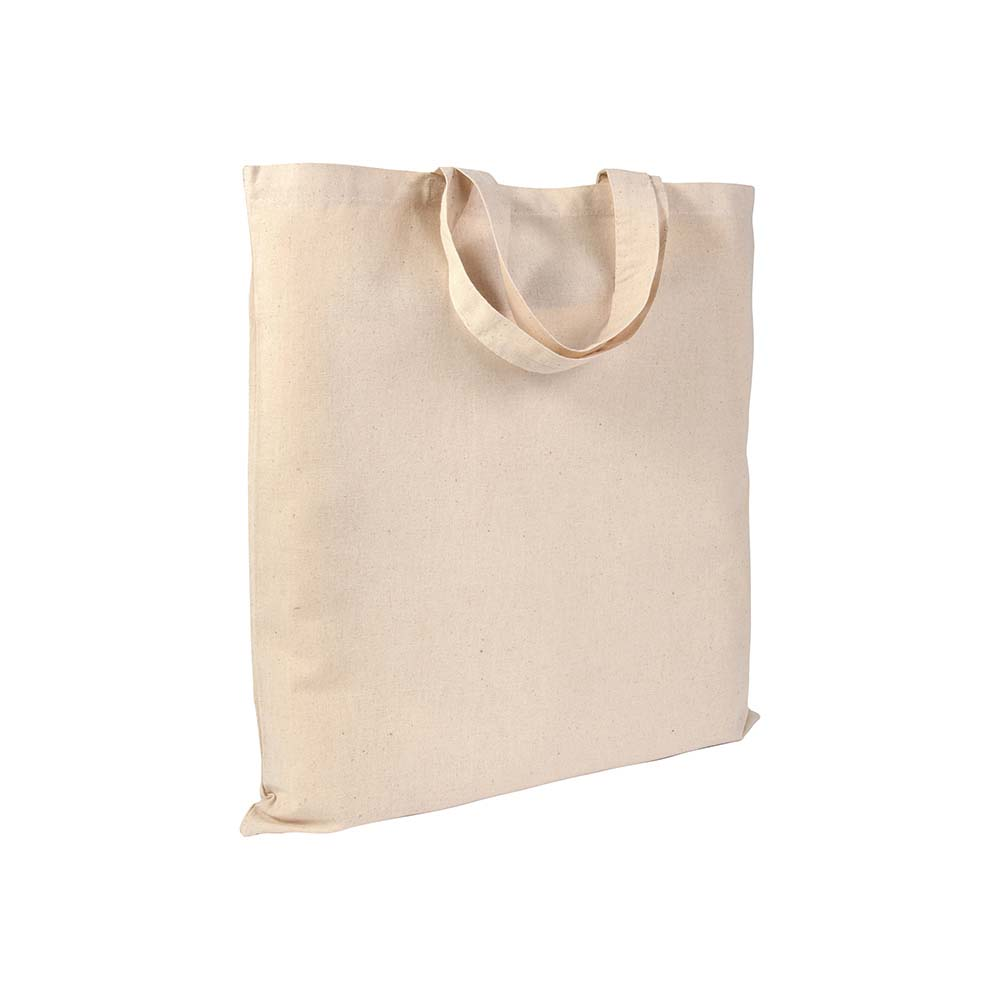 Cotton shopping bag (135 g/m²) with short handles -Natural sip-0051222