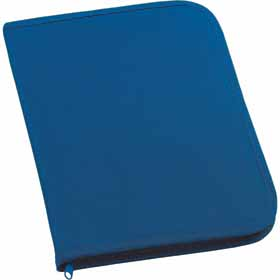 600D polyester conference folder with zip - Blue sip-0099905