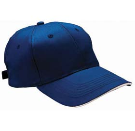 Cap in cotton / polyester with six panels - blue sip-0400305