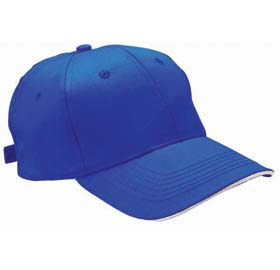 Cap in cotton / polyester with six panels - royal blue sip-0400310