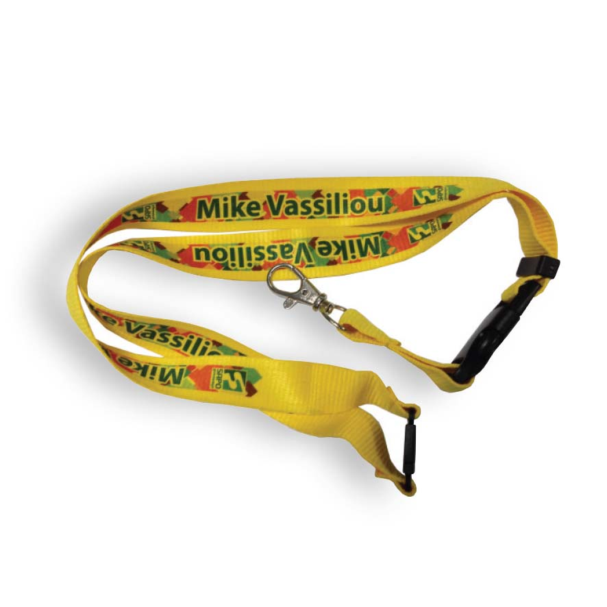 Lanyard with safety release - Yellow sip-0503206 subl