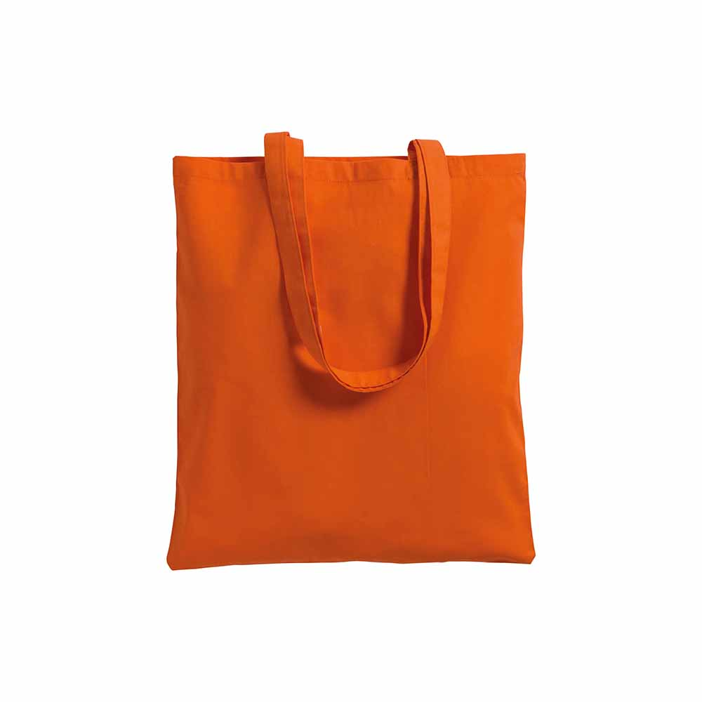 Cotton shopping bag (220 g/m²) with long handles and gusset. - Orange sip-0712507